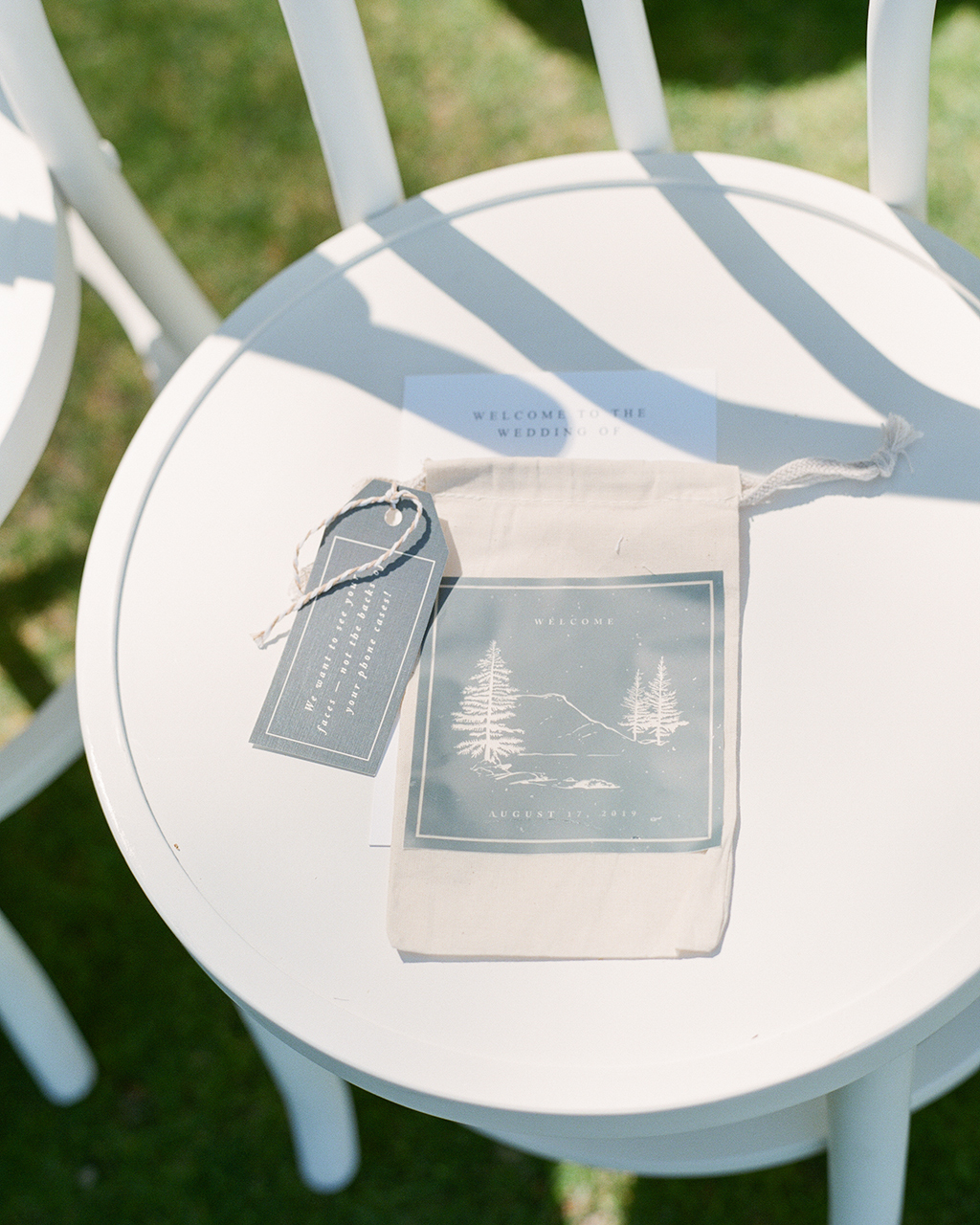 guest cell phone bags custom lake theme