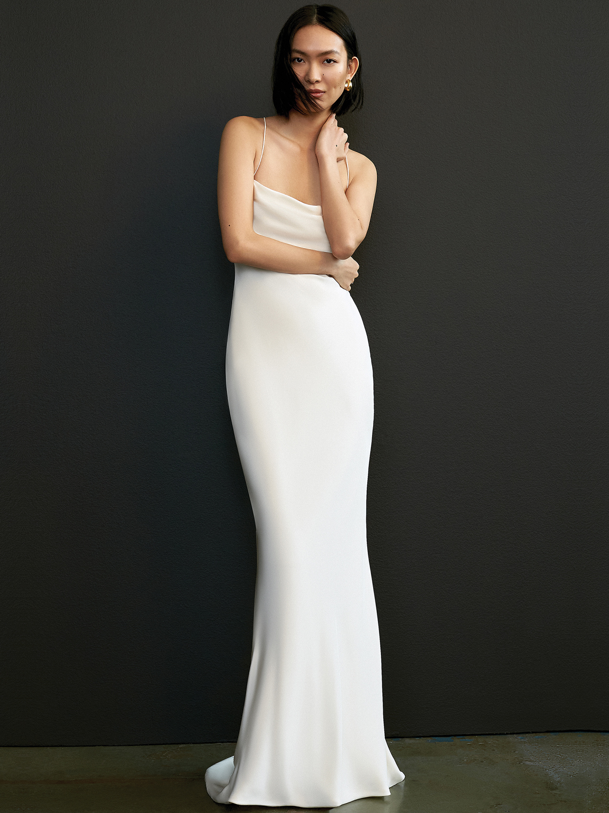 savannah miller thin strap fitted wedding dress spring 2021
