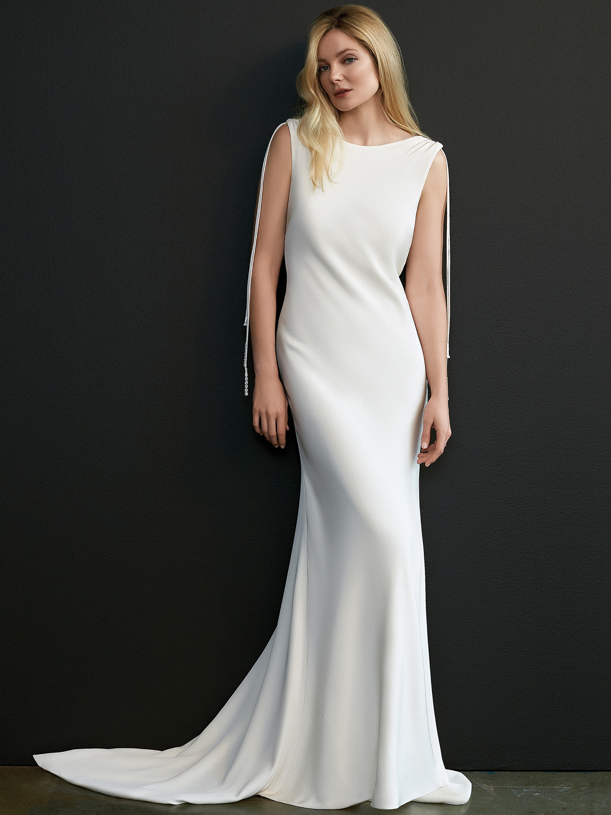 savannah miller cowl neck sleeveless wedding dress spring 2021