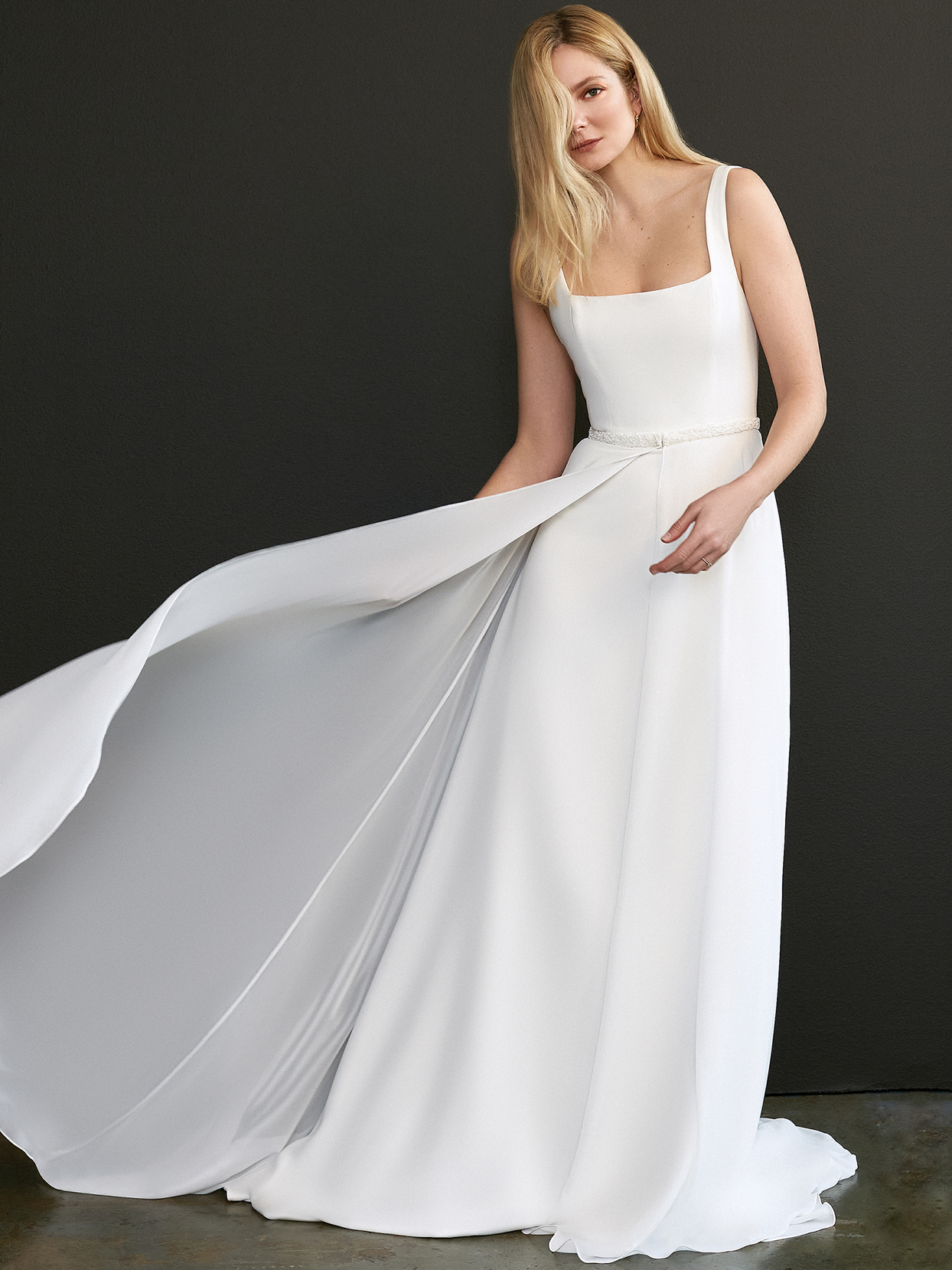 savannah miller square neck a-line wedding dress spring 2021