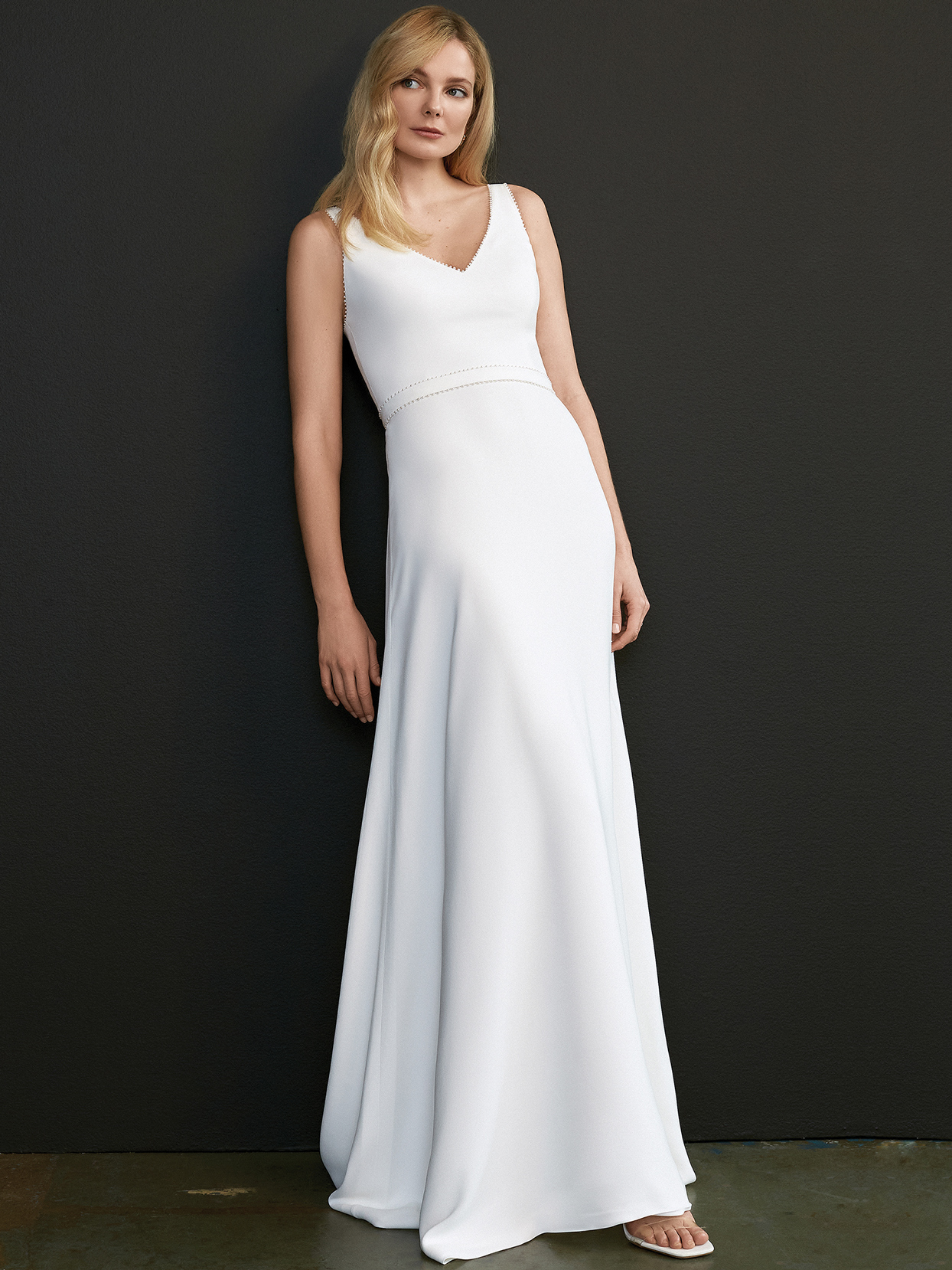 savannah miller v-neck a-line wedding dress spring 2021