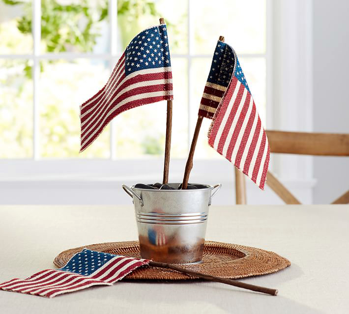 American Flag Centerpieces
