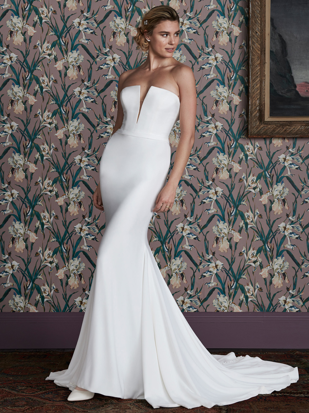 justin alexander strapless plunging v-neck wedding dress spring 2021