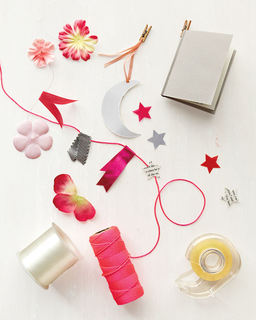 materials for making a party garland