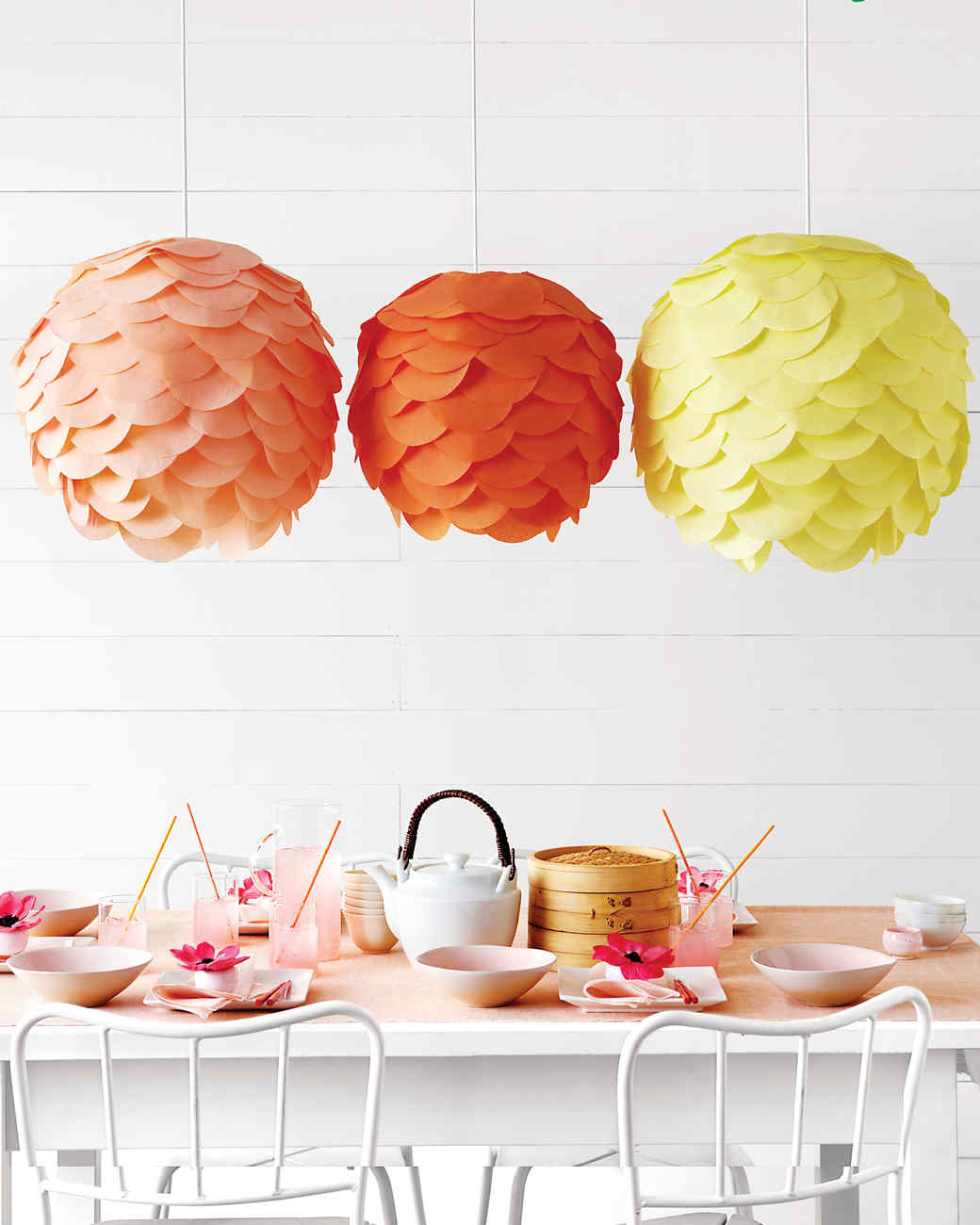 scalloped party lanterns