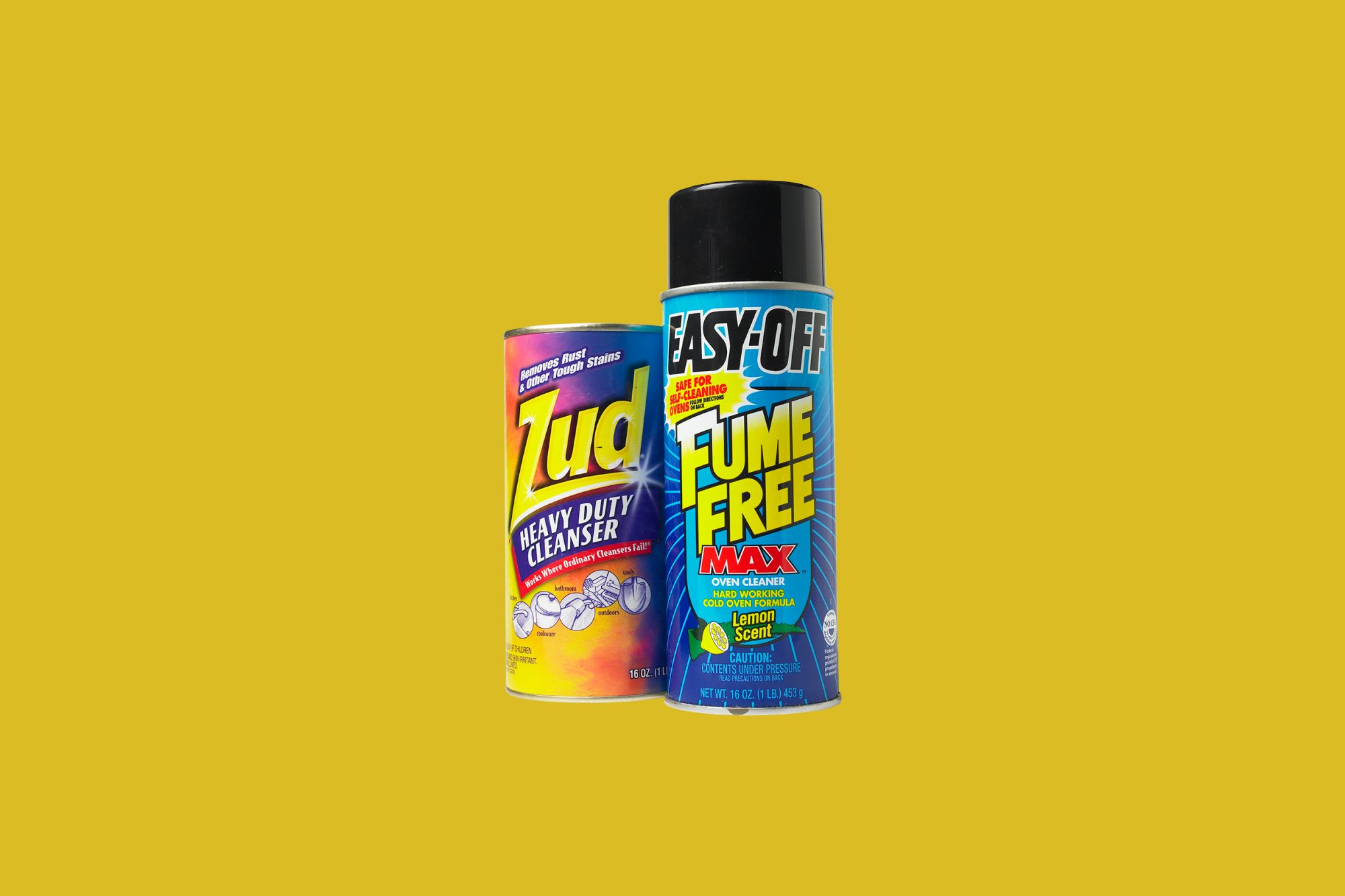 Easy-Off Oven Cleaner and Zud Cream Cleaner