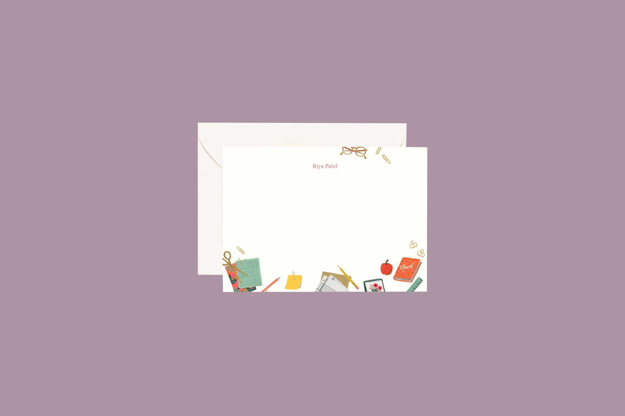 Rifle Paper Co. Personalized Flat Notes in School