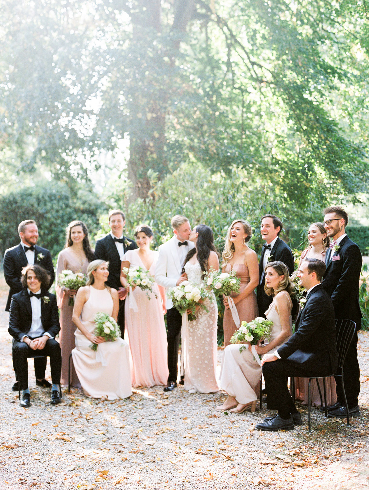 julia crawford wedding party and couple