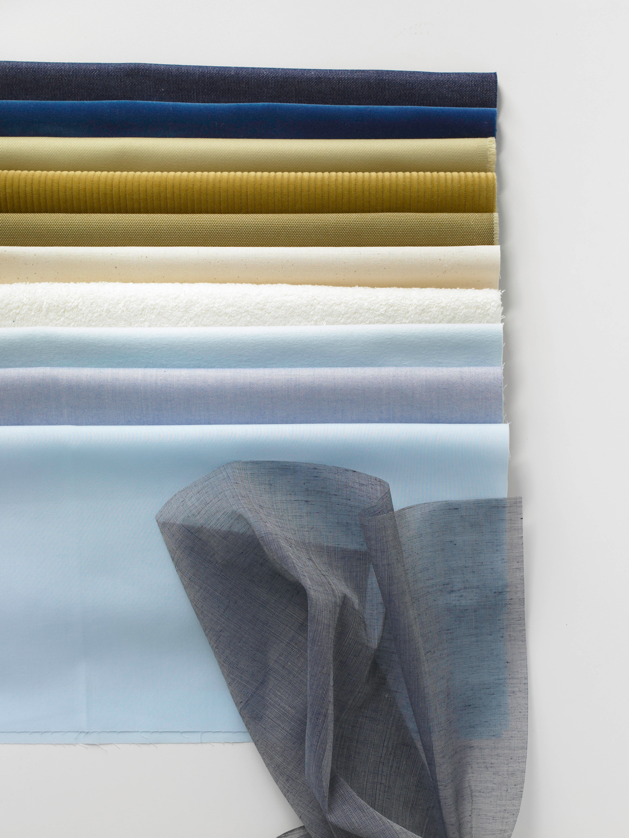 blue and gold solid cotton fabric