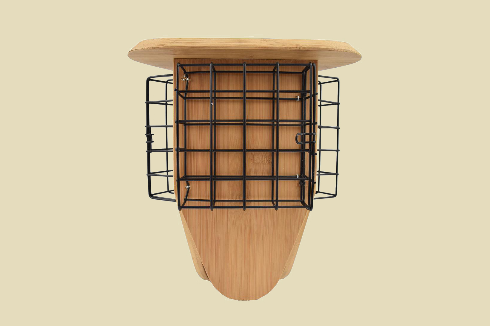 bamboo suet hanging bird feeder
