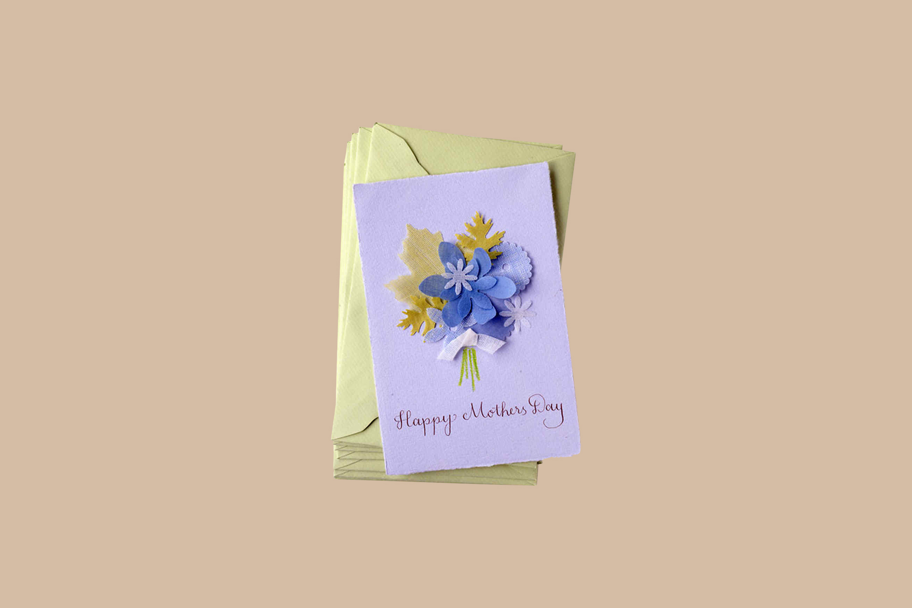 Purple Happy Mother's Day card
