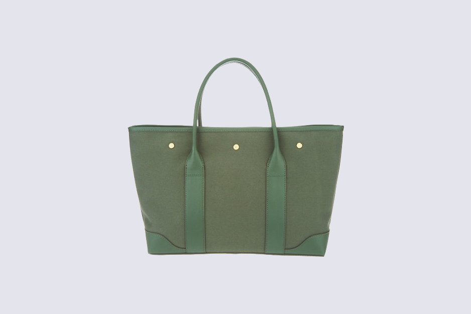 sage green tote bag
