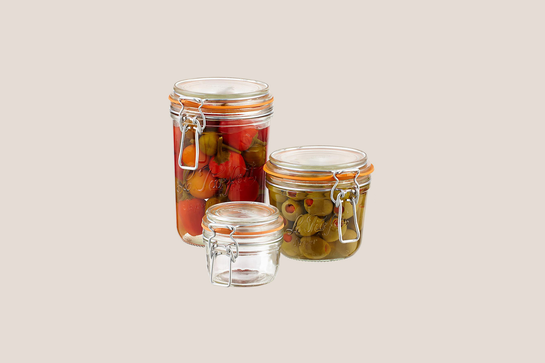 container store glass terrines