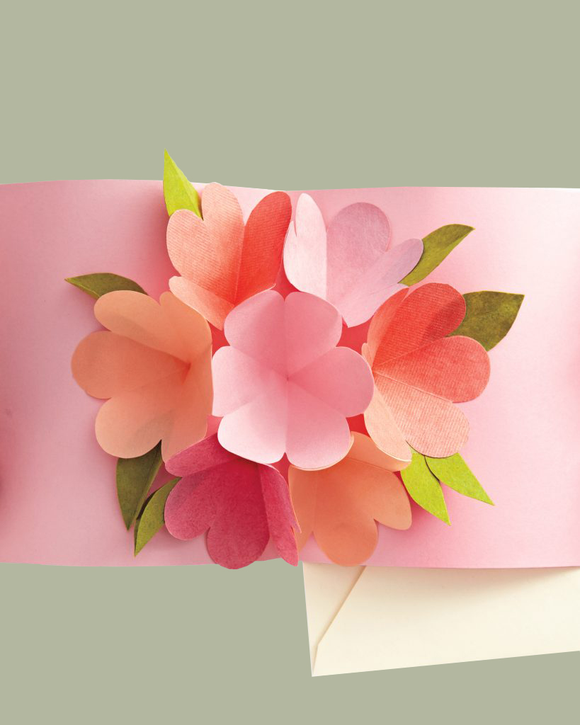 mothers day flower pop-up card