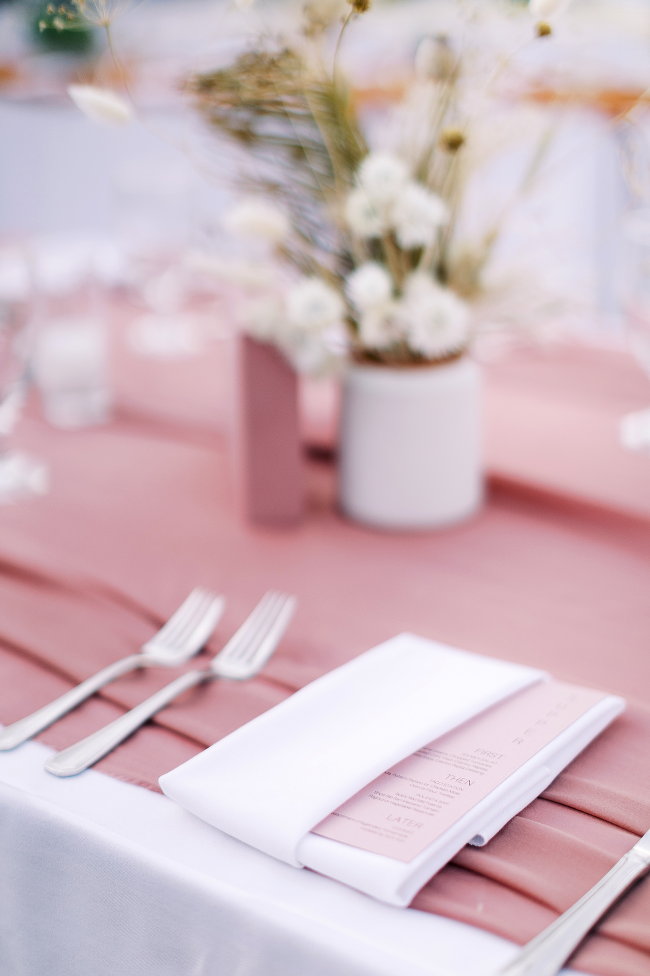 janelle stephen wedding place settings
