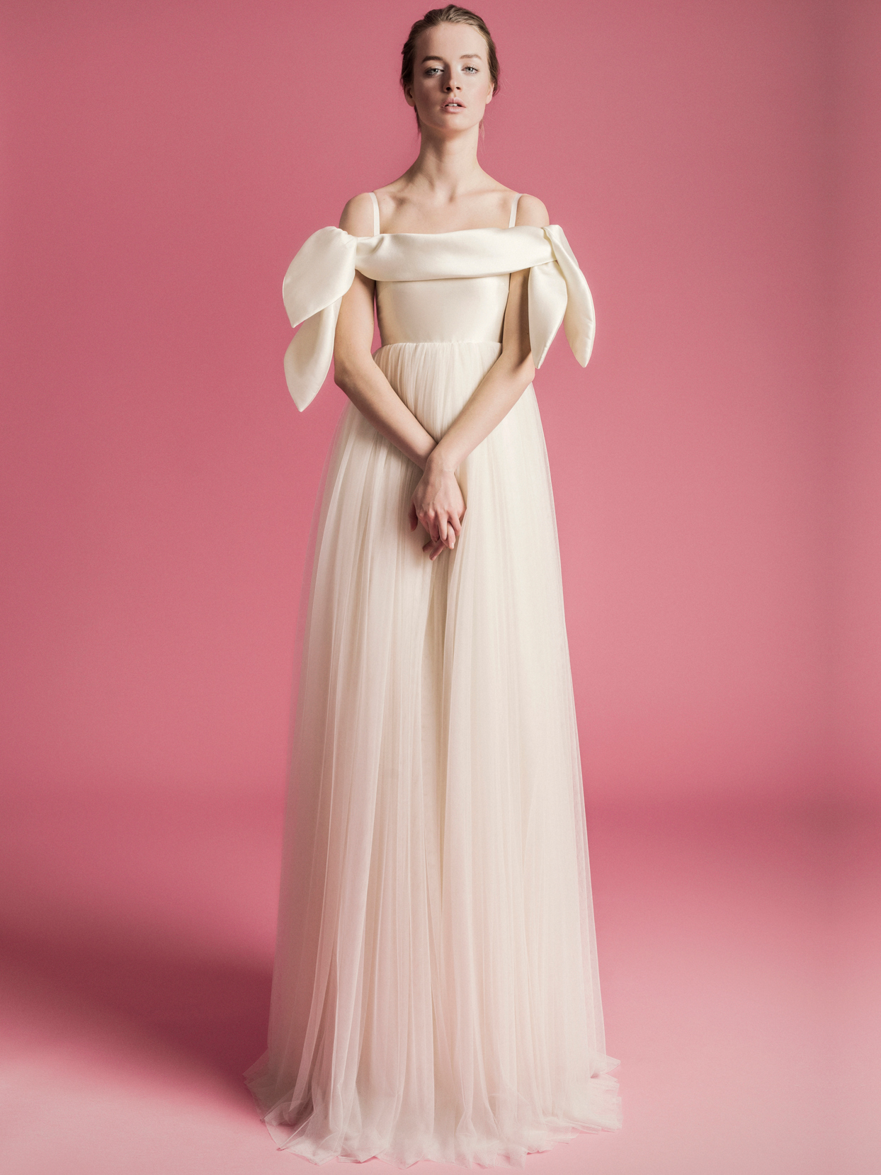 Sophie Et Voilà straight across a-line tulle skirt wedding dress spring 2021