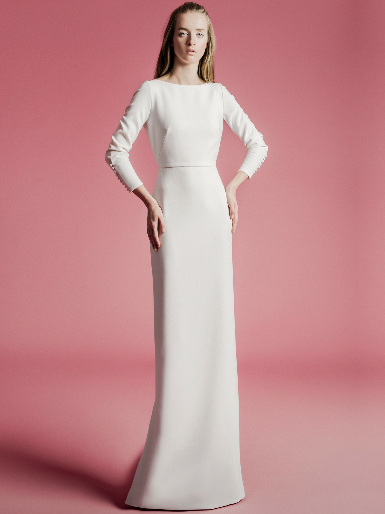 Sophie Et Voilà high neck long sleeve fitted wedding dress spring 2021