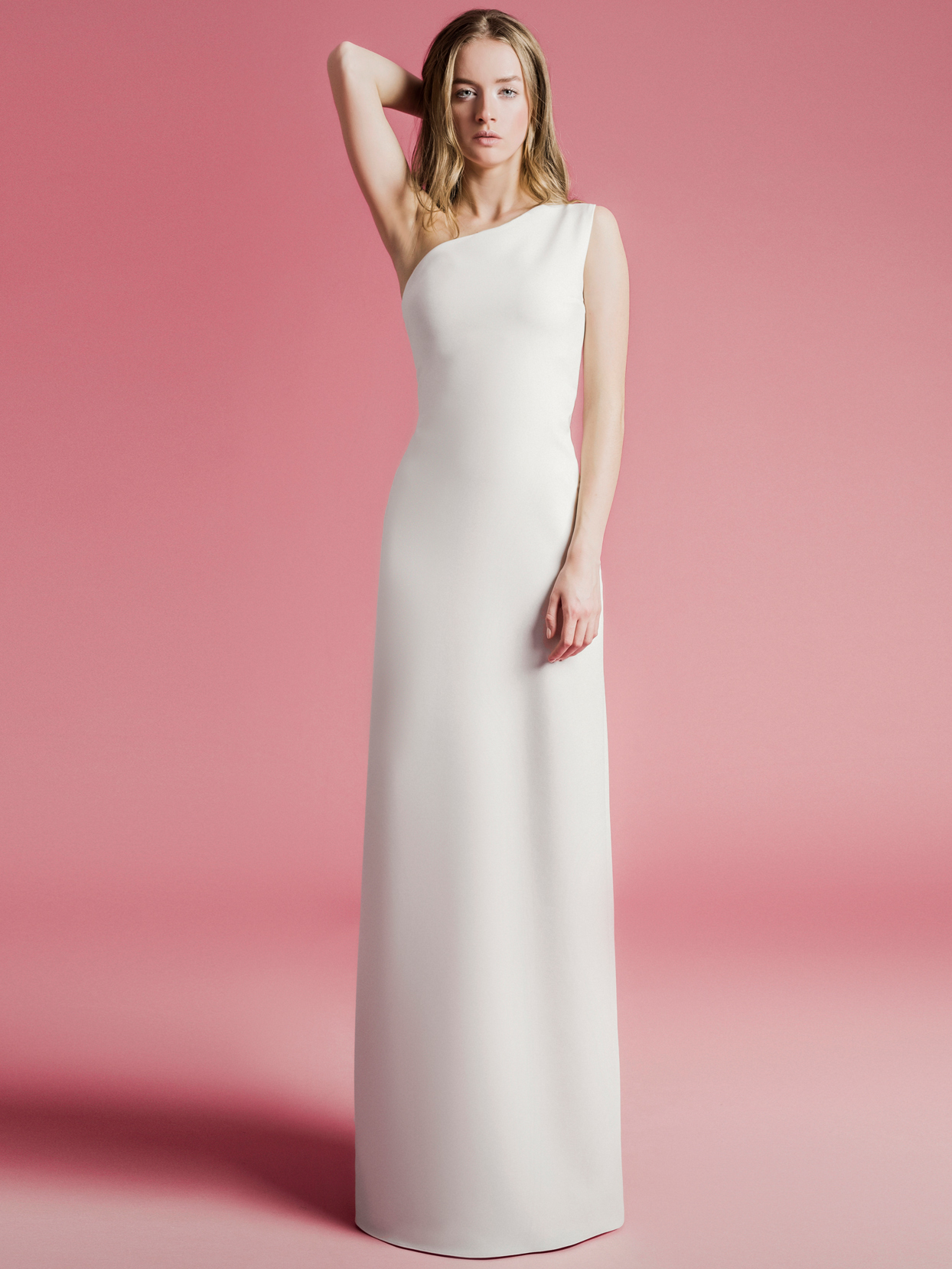Sophie Et Voilà one shoulder sheath wedding dress spring 2021