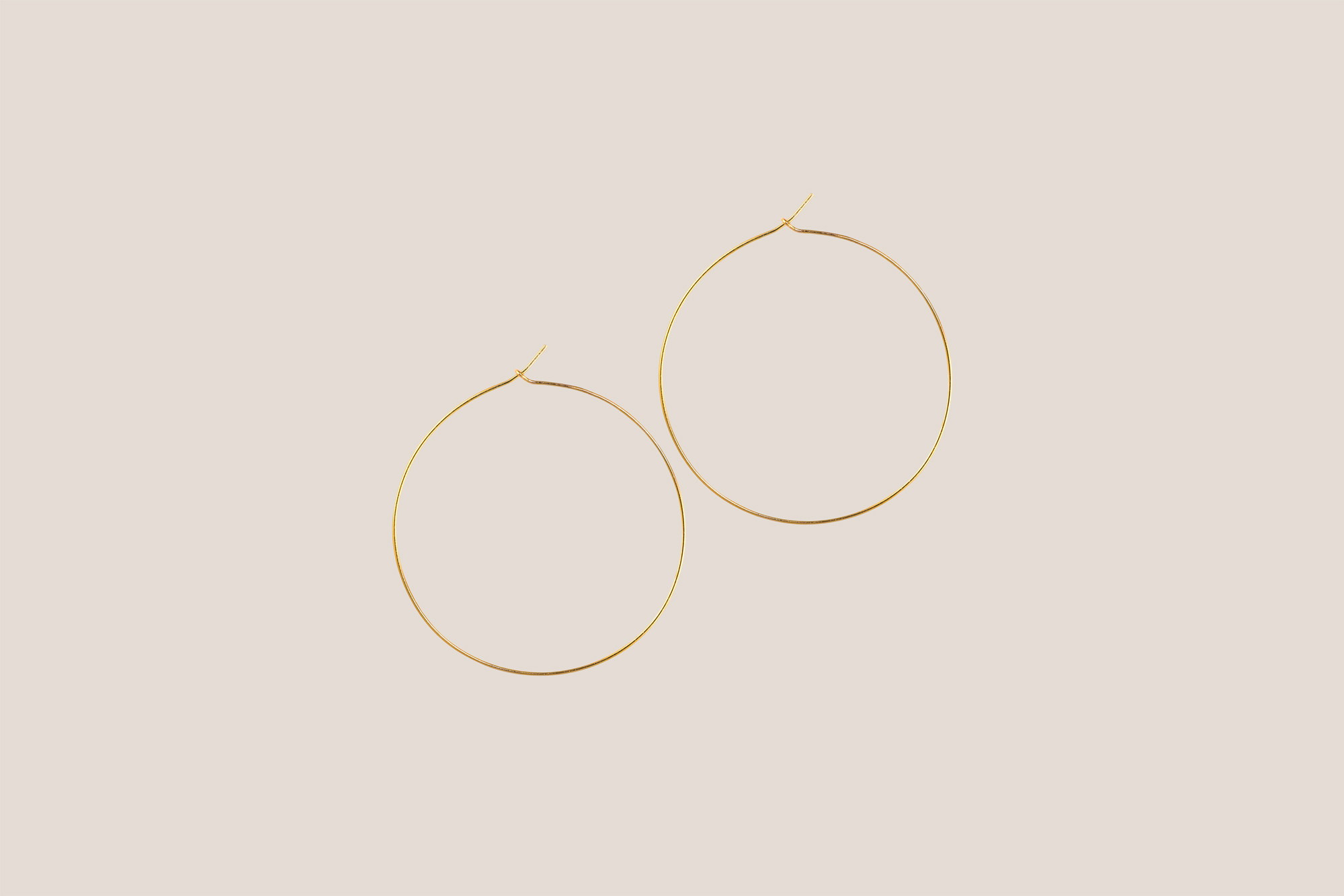 Cynthia Rybakoff Gold Perfect Hoop Earrings
