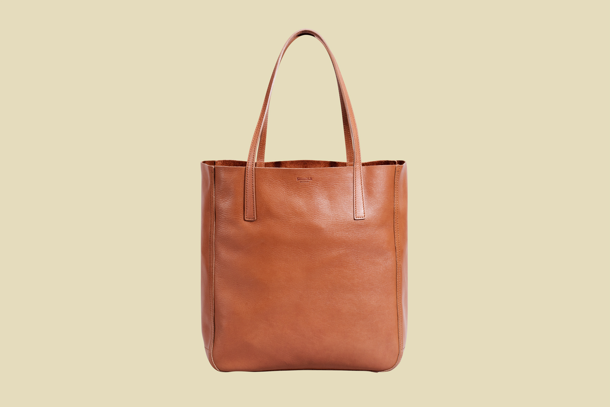 brown leather Shinola Medium Shopper Tote