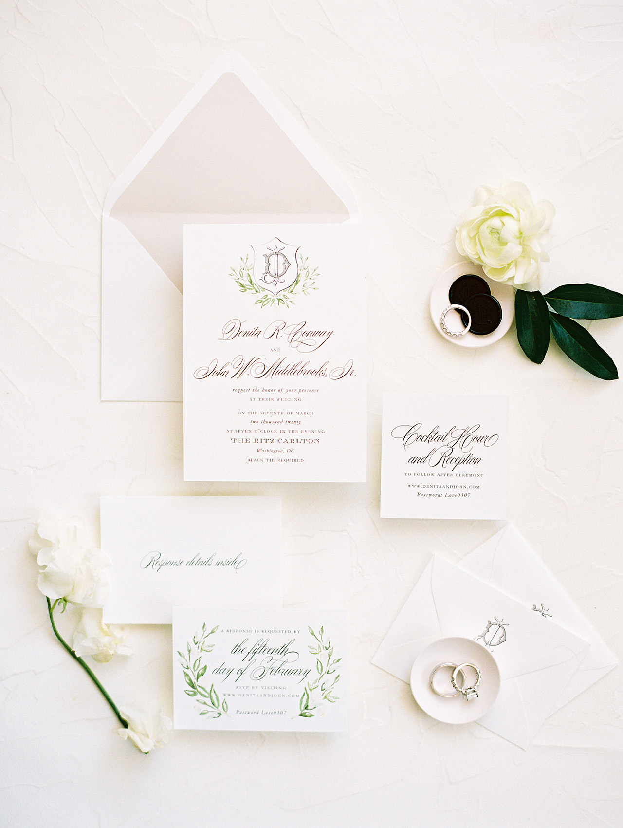 denita john wedding invites
