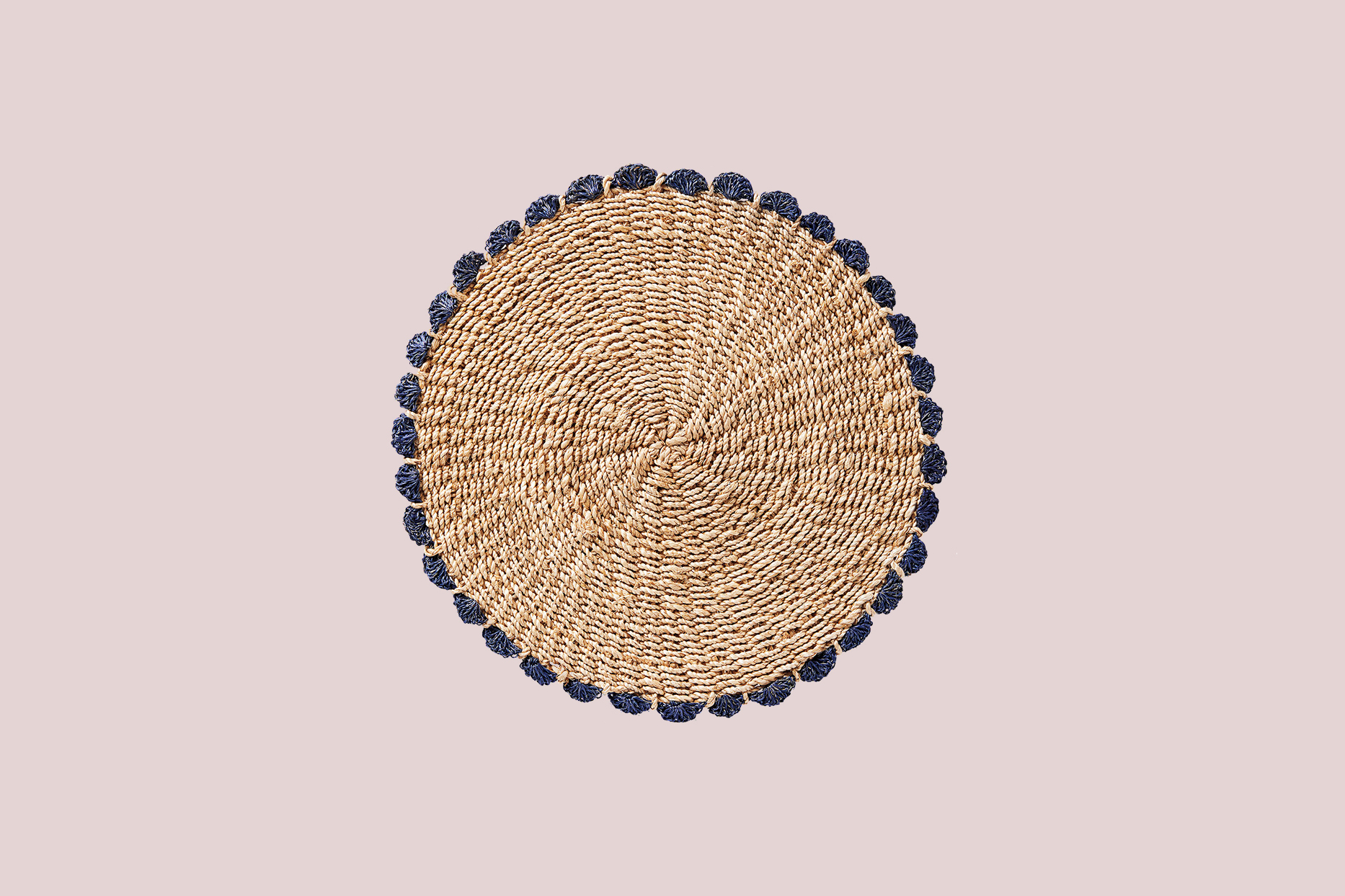 """Serena & Lily """"Catalonia"""" Place Mats in Round Navy"""