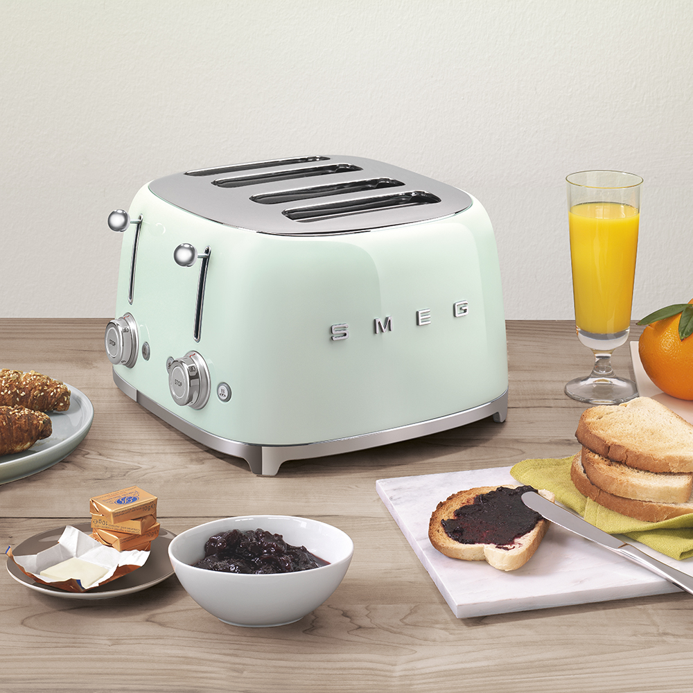 smeg toaster with breakfast foods