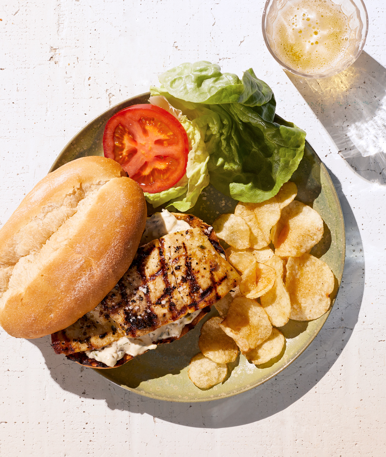 Grilled Salt-Rubbed Fish Sandwich