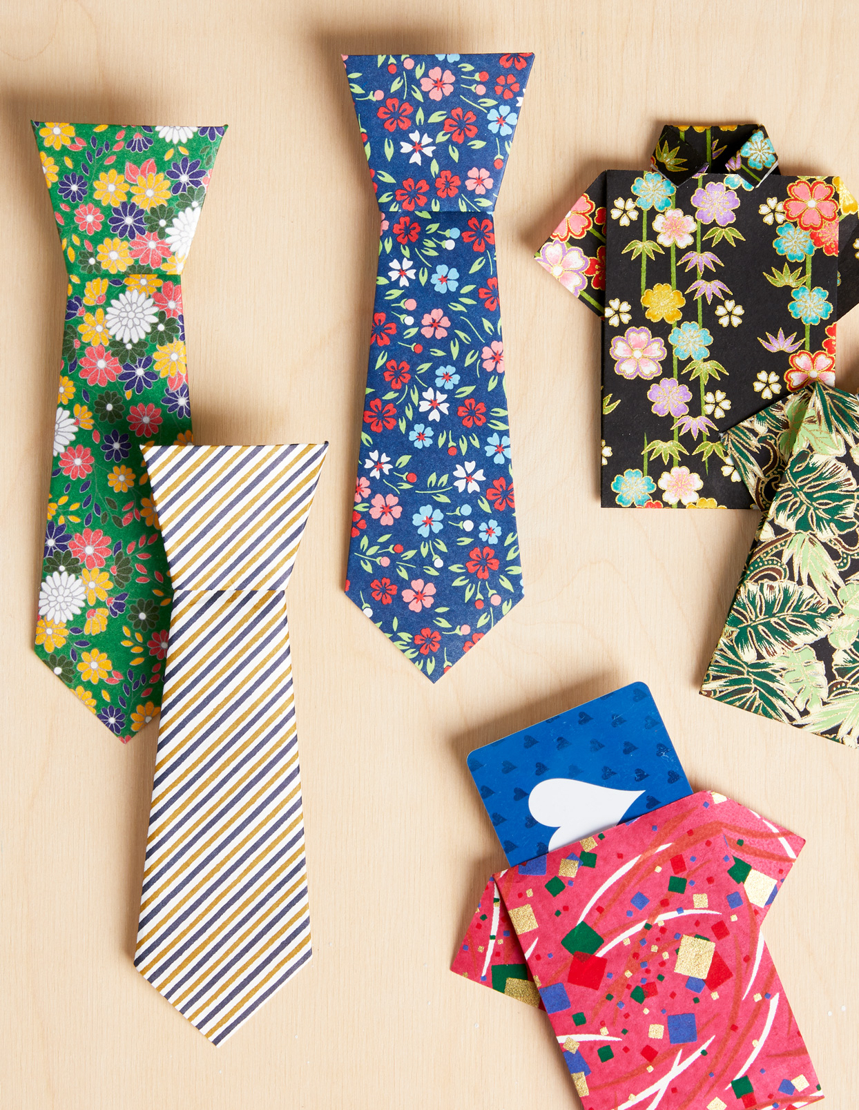 Father's Day shirt and tie cards