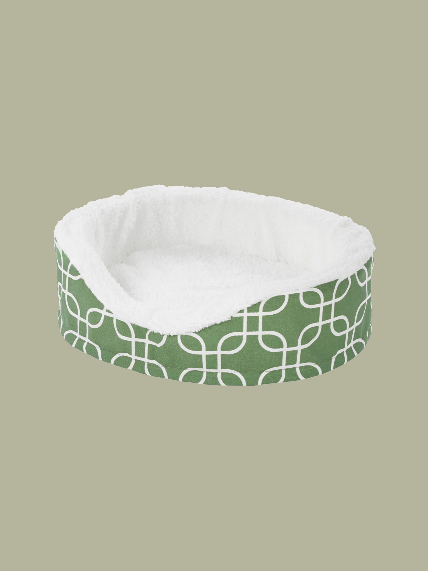 green and white cat & dog Bed