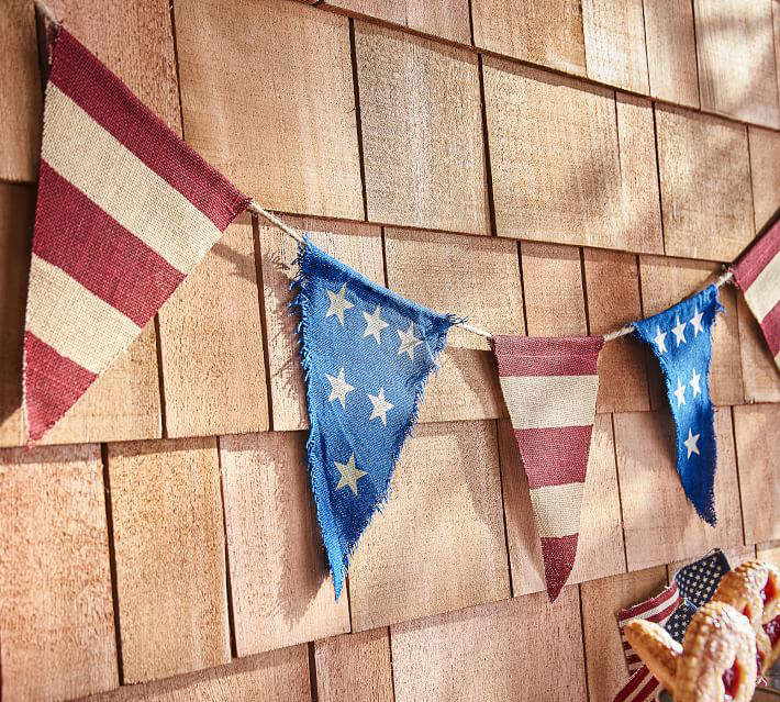 "Pottery Barn ""Liberty"" Burlap Party Banner"
