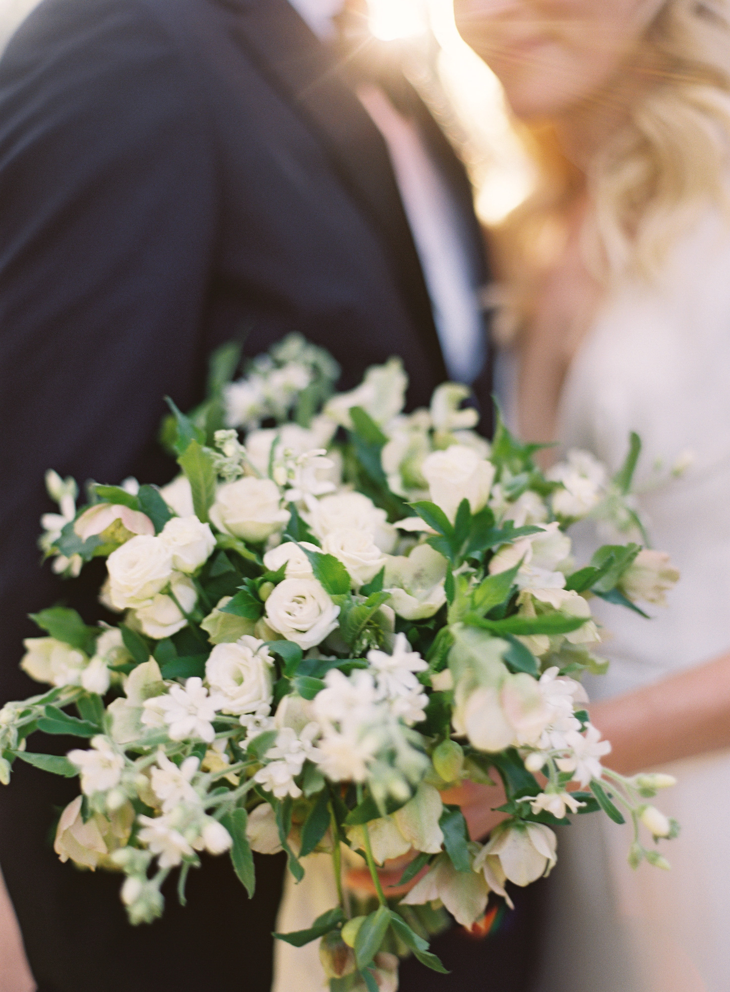 bride's green and white bouquet