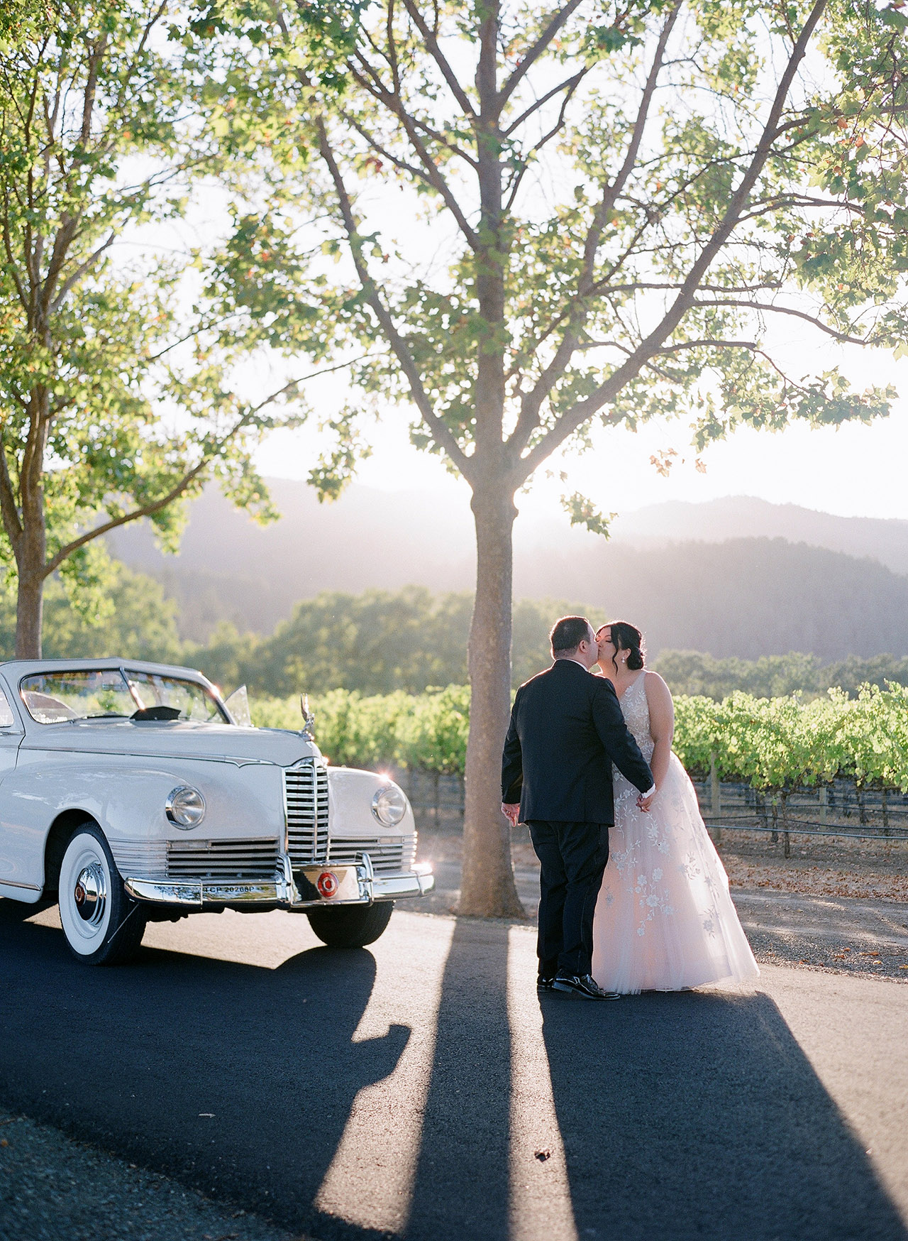 gillian tyler wedding couple vintage car