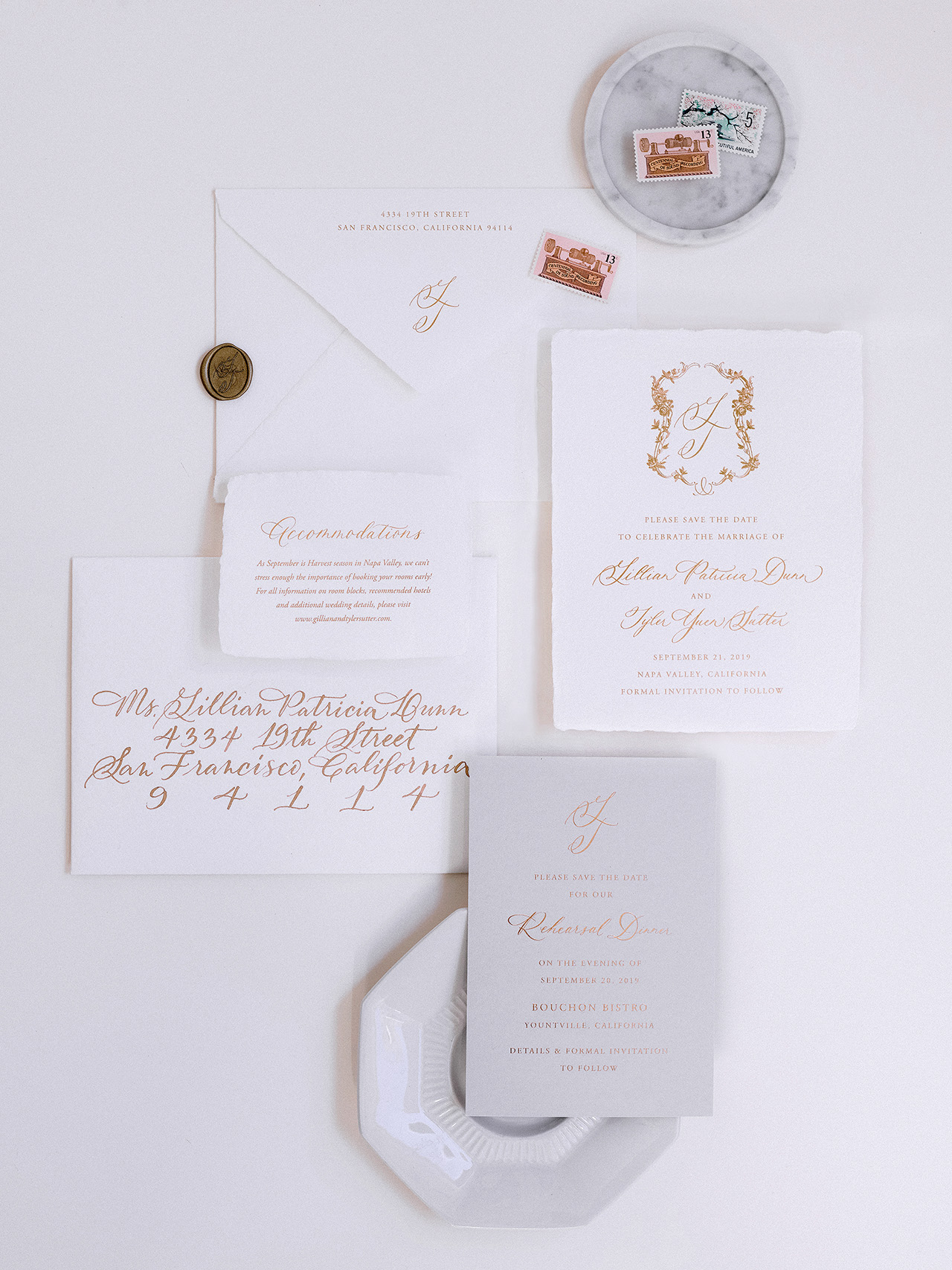 gillian tyler wedding invitation suite