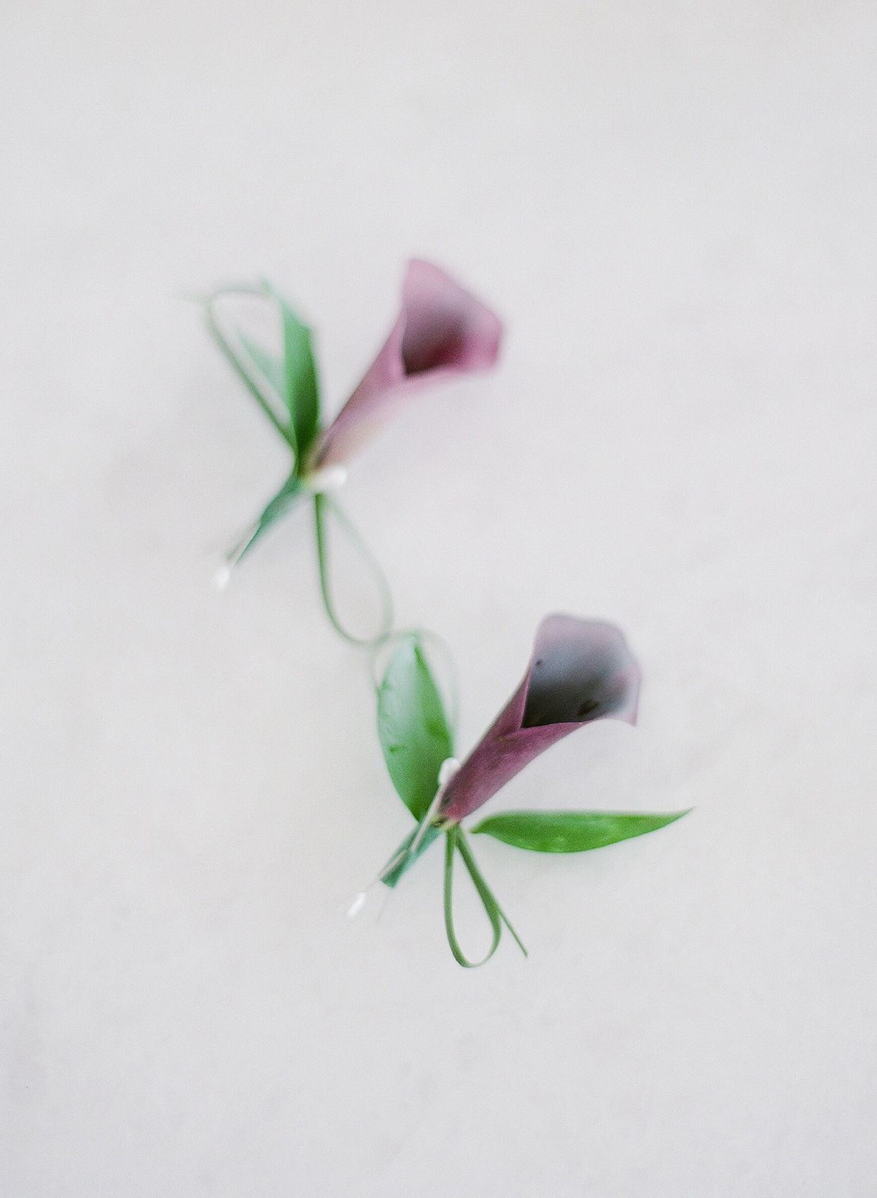 purple floral wedding boutonnieres