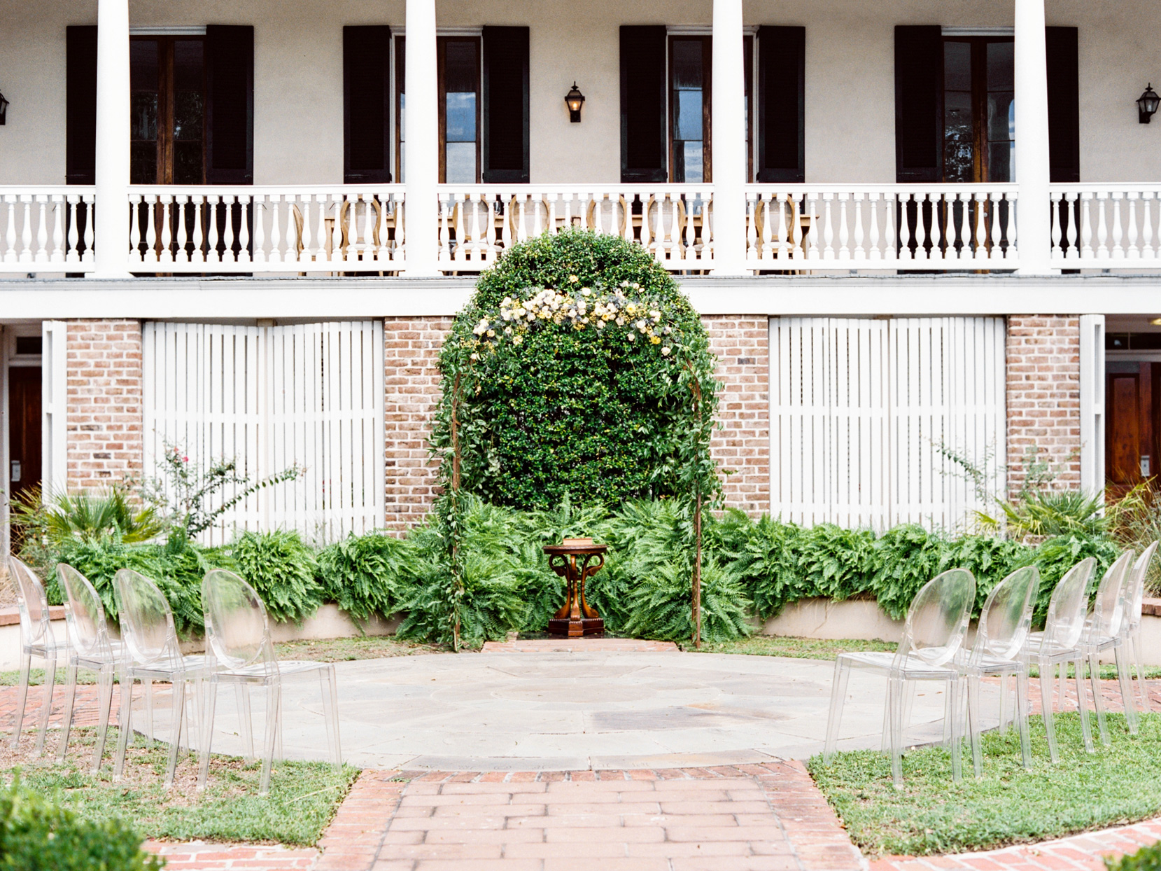 East Bay Manor wedding ceremony site outdoors