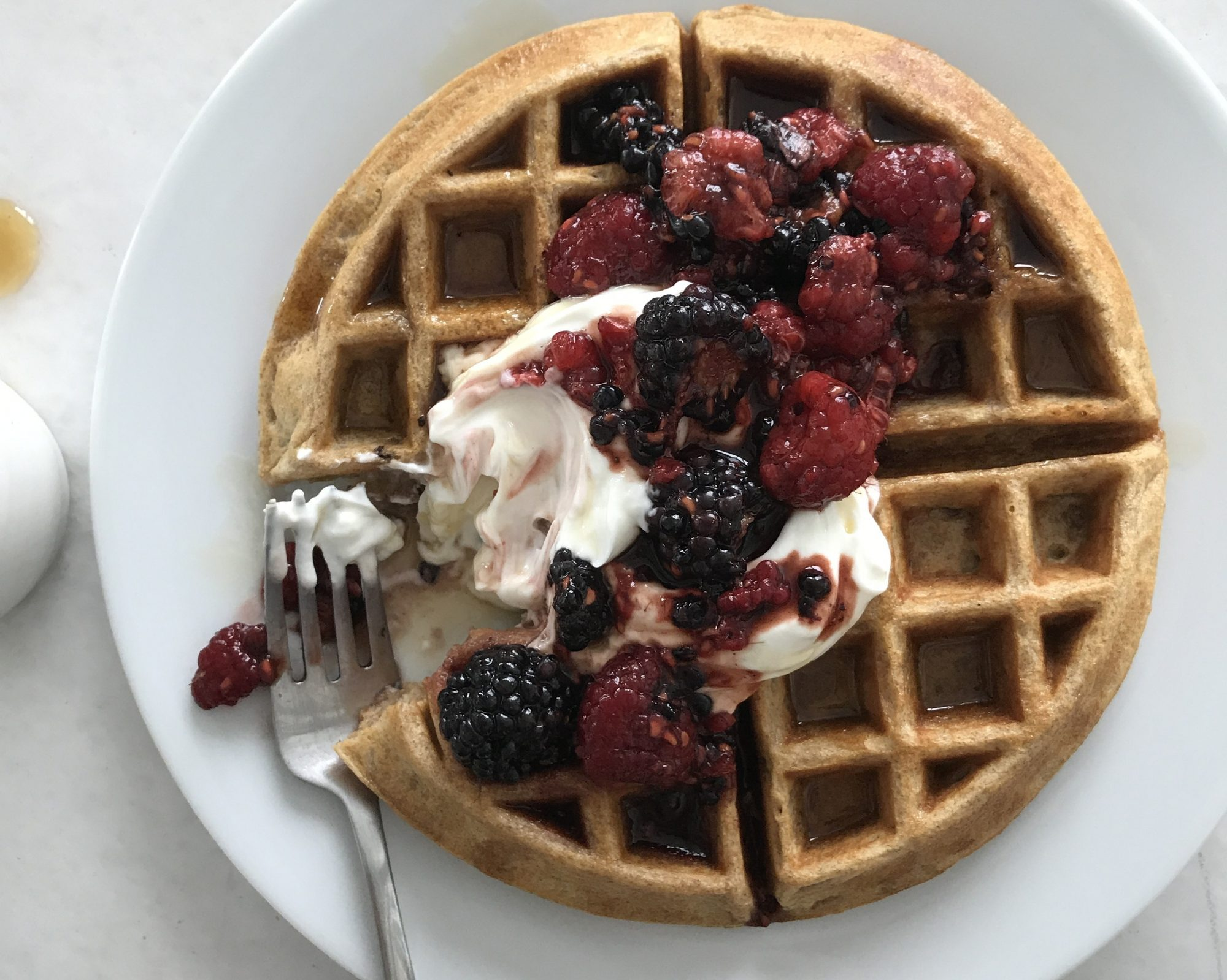 waffles topped with berries