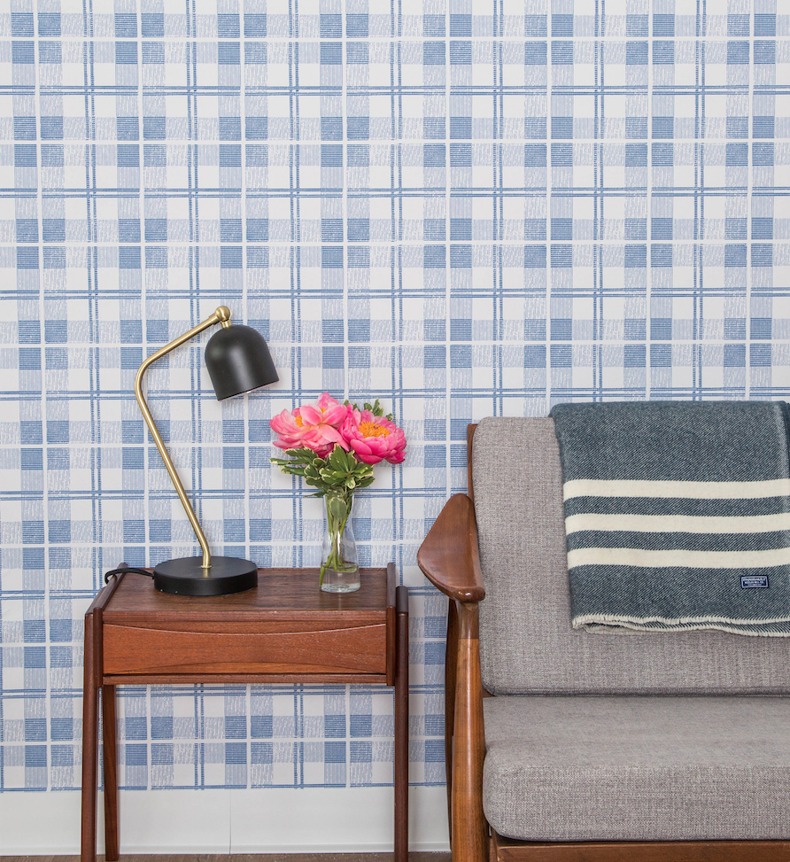 Chasing Paper Graduate Plaid Removable Wallpaper