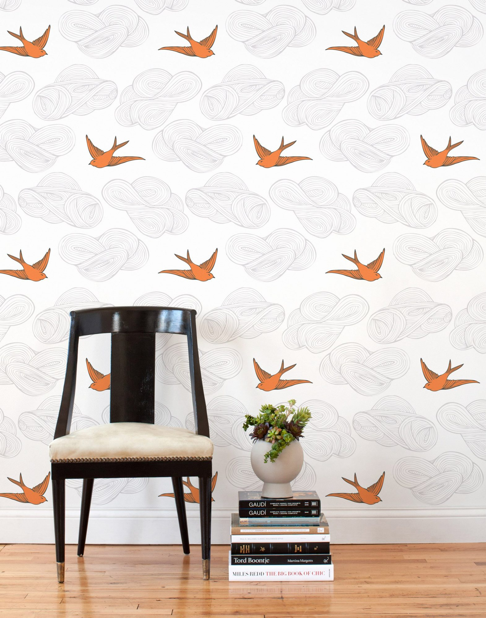 Hygge & West Daydream Orange Tiles Removable Wallpaper