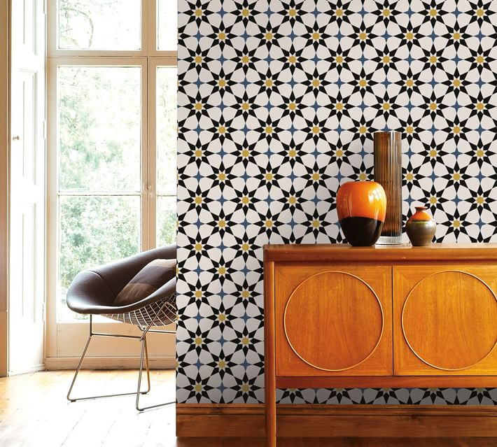 Pottery Barn Soleil Moroccan Wallpaper