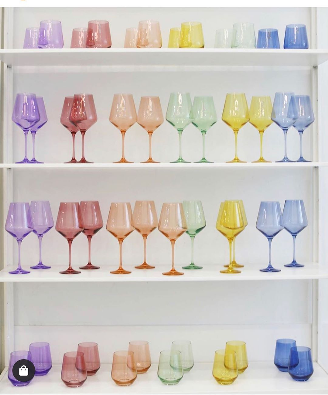 colorful wine glasses
