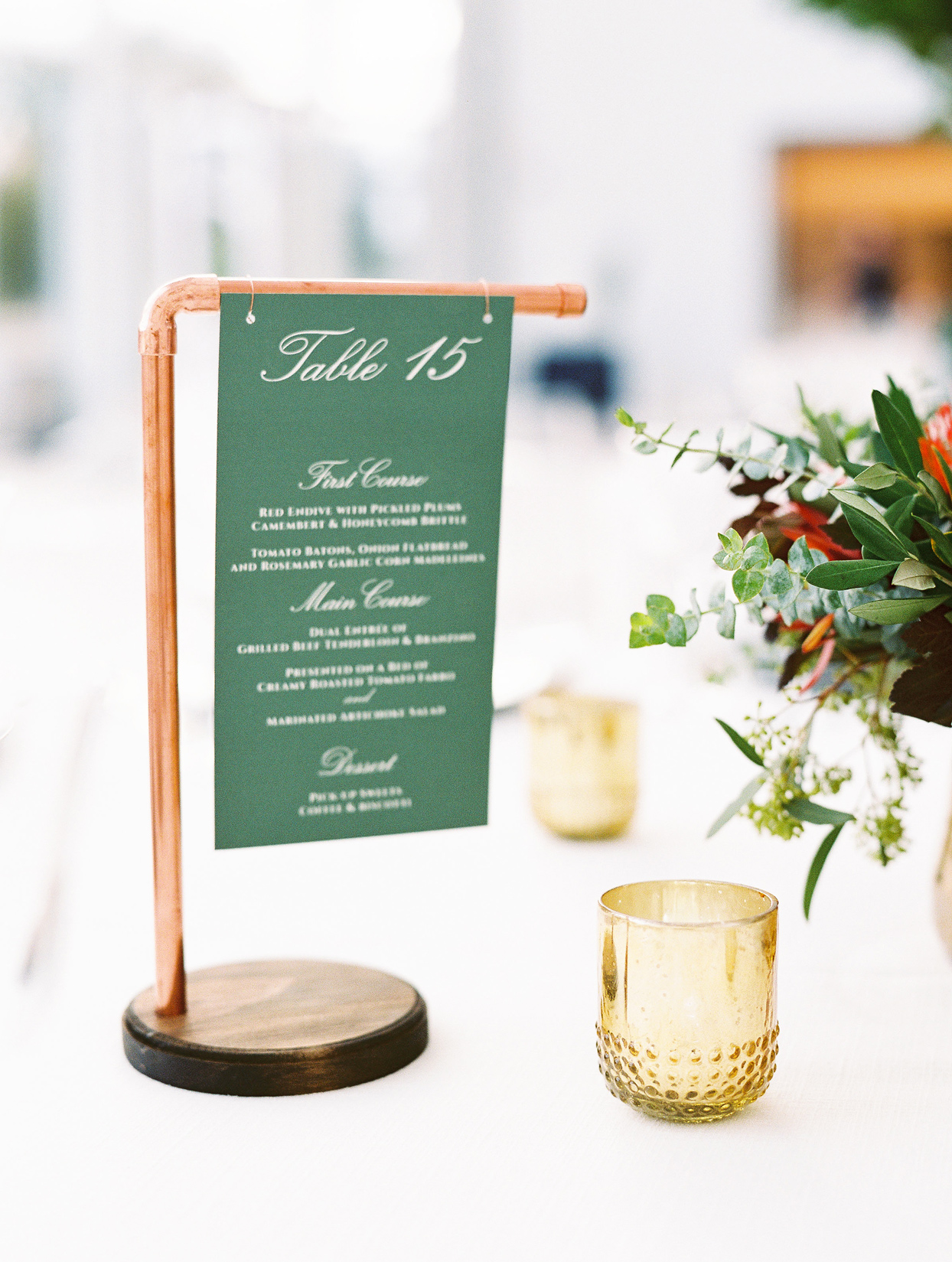 green cardstock table numbers