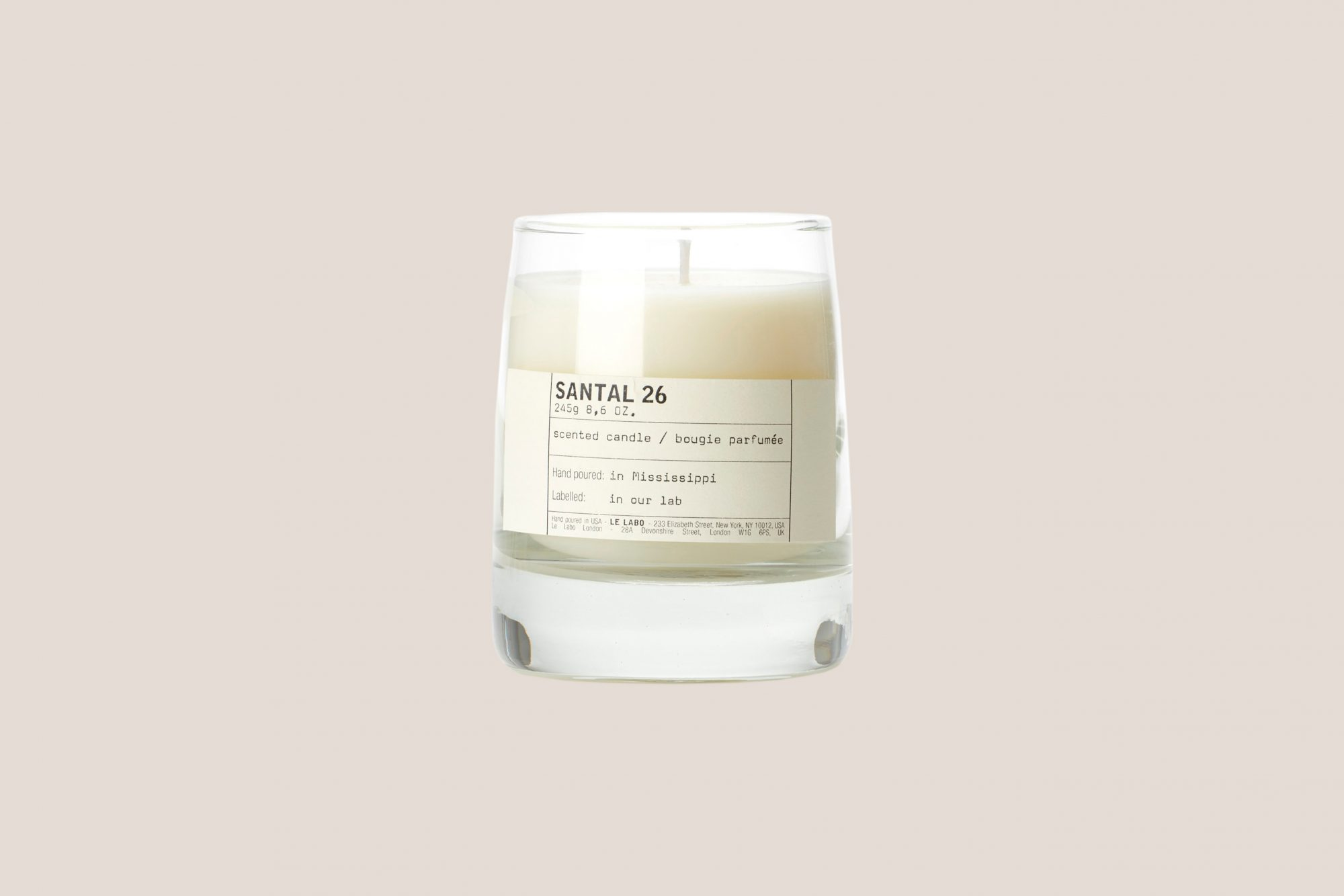 "Le Labo Grasse—New York ""Santal 26"" Classic Candle"