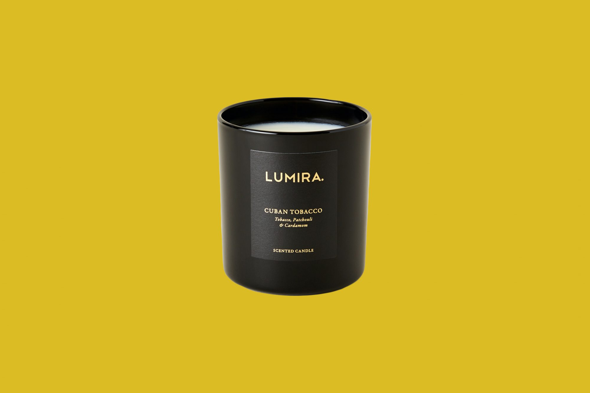 "Lumira ""Cuban Tobacco"" Candle"