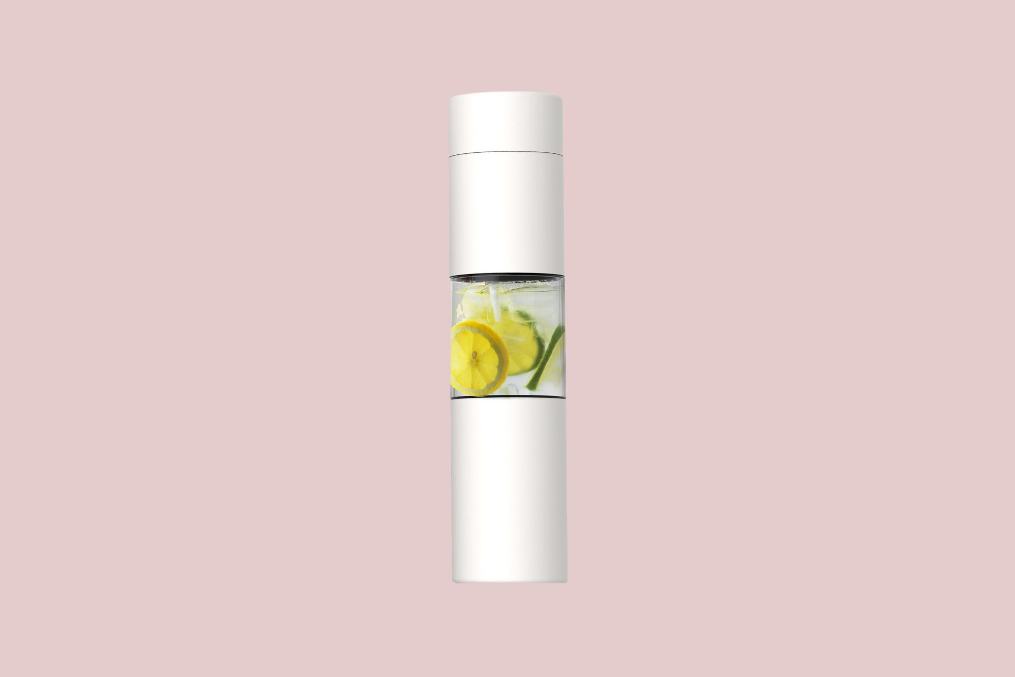 """Asobu """"Flavor You See"""" Water Bottle in White"""