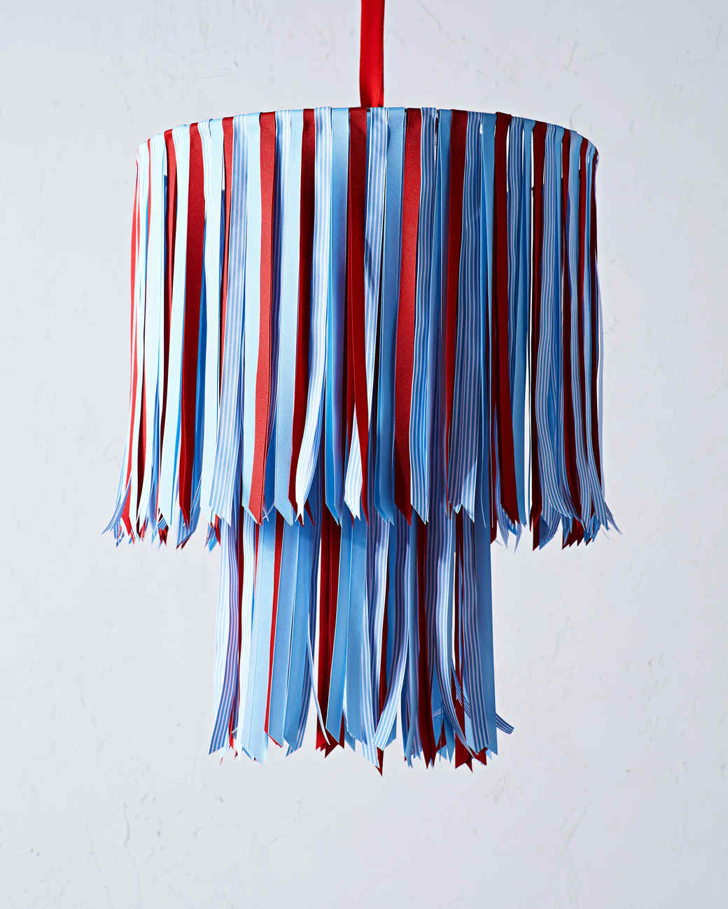 ribbon chandelier in patriotic colors
