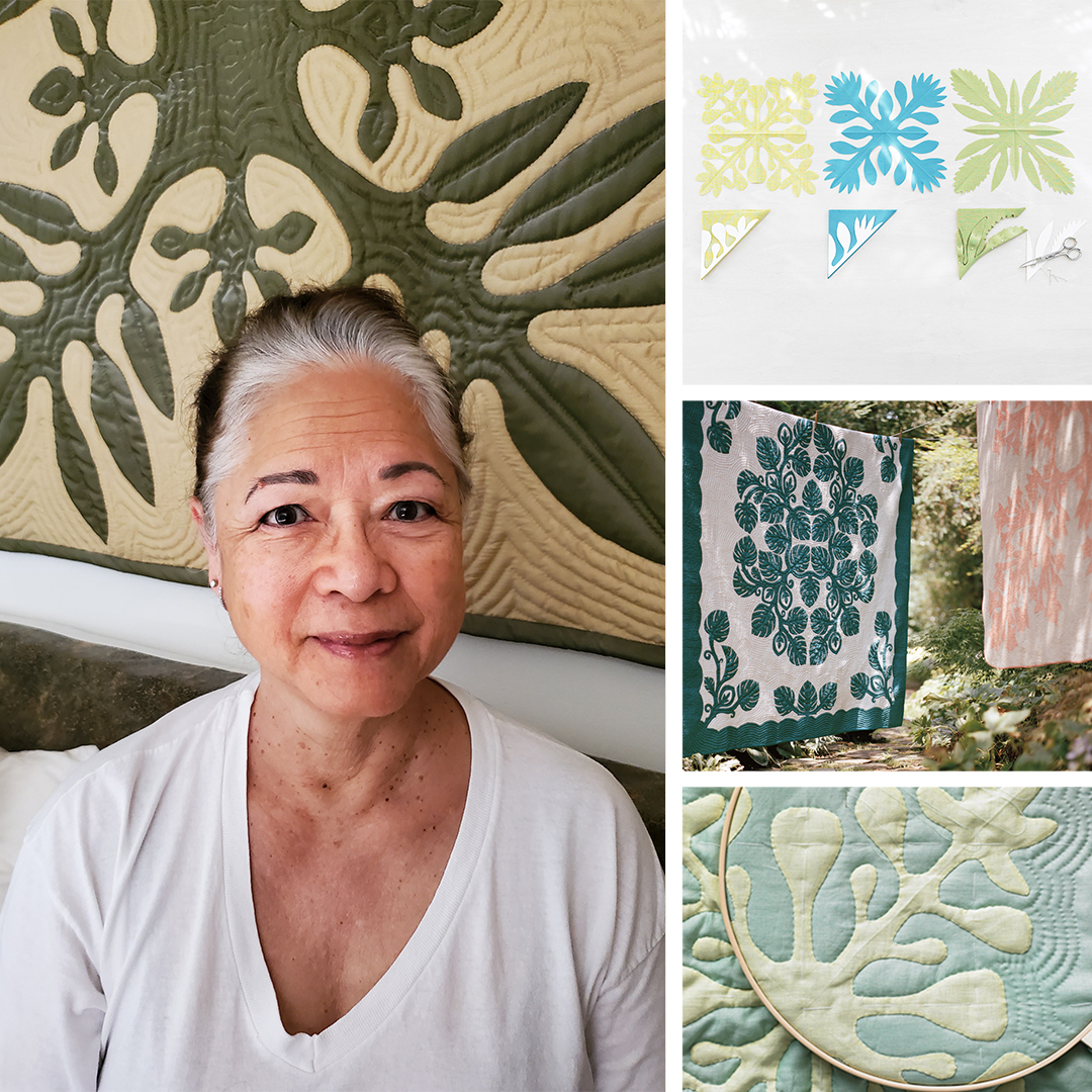 Patricia Gorelangton and Hawaiian quilts