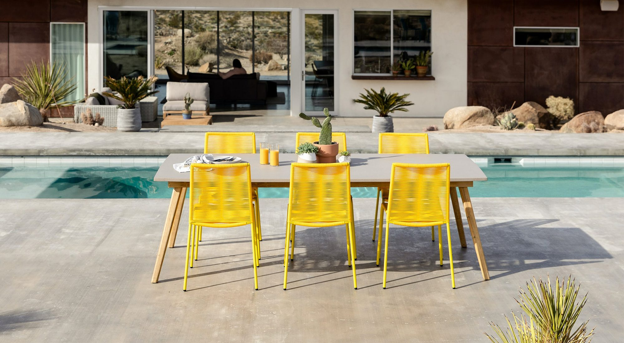 Article Zina Dining Chairs in Freesia Yellow