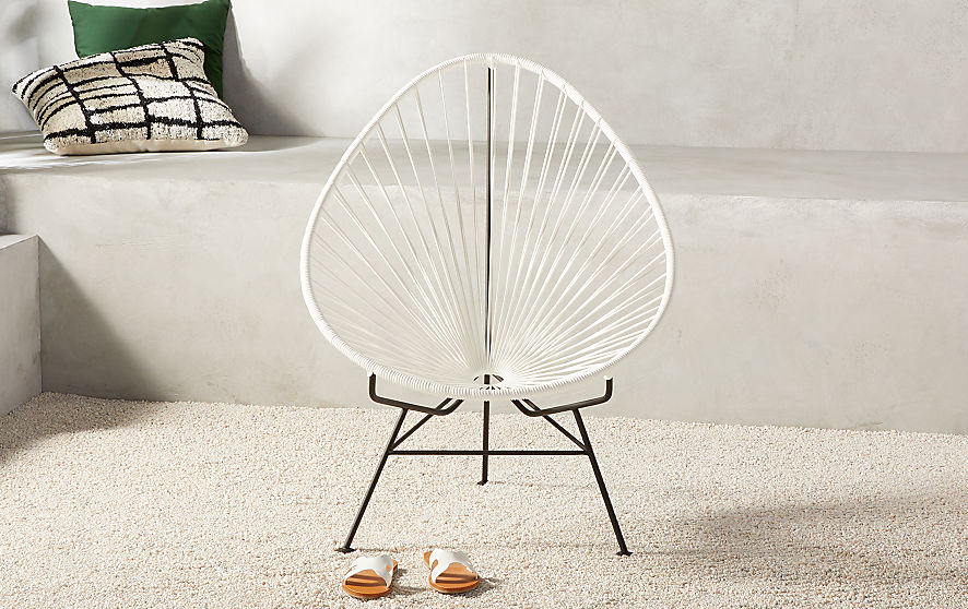 CB2 Acapulco Outdoor Chair in White