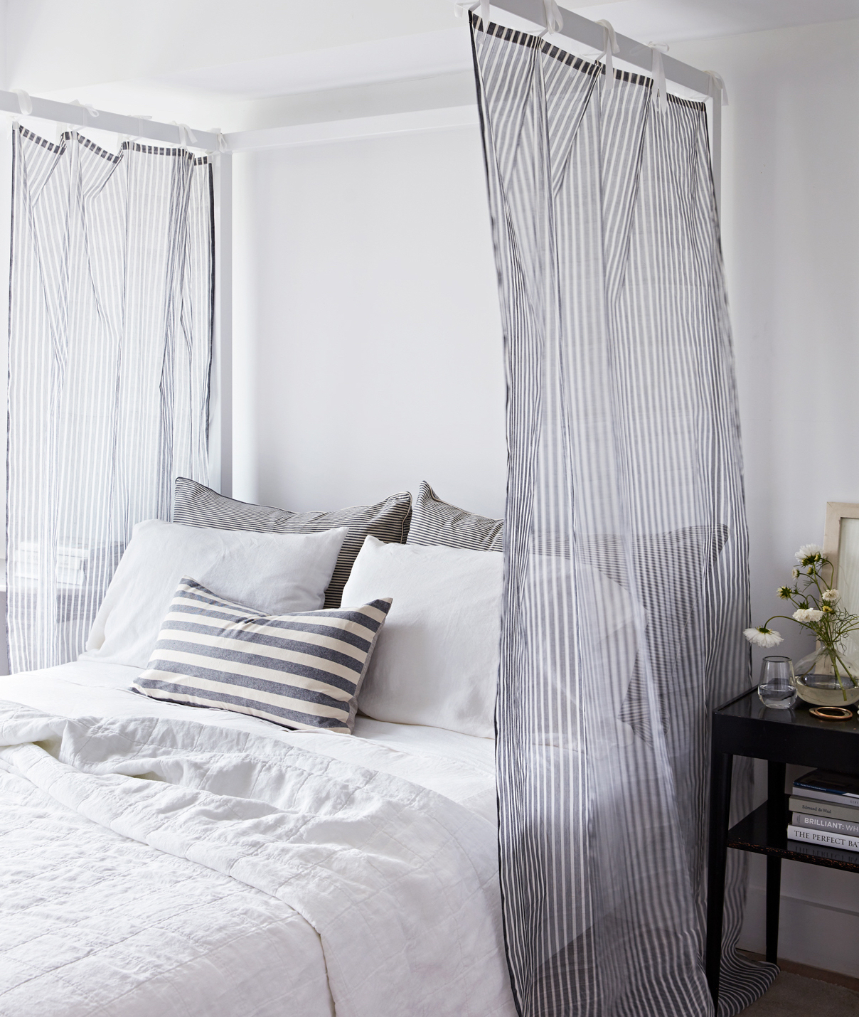 sheer canopy bed curtains